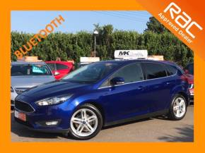 Ford Focus 1.0 EcoBoost 125 Zetec 5dr Hatchback Petrol Blue at MK Car Sales Milton Keynes